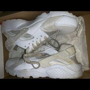 All white huraches!